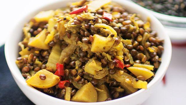 braised-cabbage-lentils-recipe