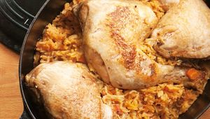 Thumb spiced chicken and rice