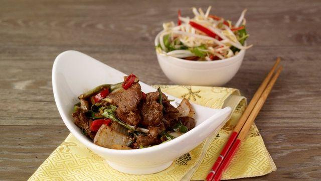 Fillet beef chilli basil