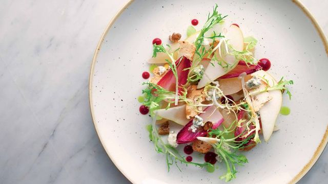 Salad of Pear, Crozier Blue and Chicory