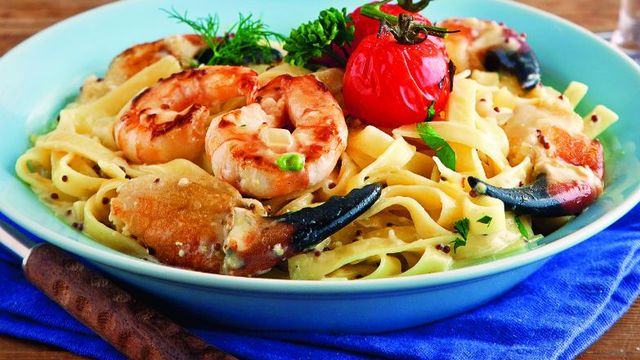 tagliatelle-with-prawns-and-crab-claws