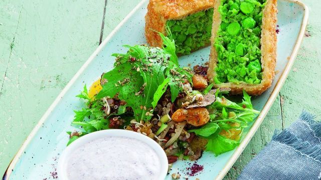 Pea and Courgette Croquettes