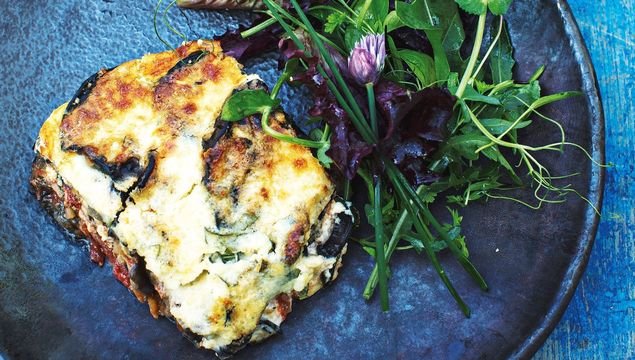 Aubergine and ricotta gratin, Fearless Food: Lynda Booth