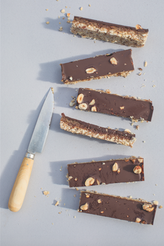 Caramel and Chocolate Slices