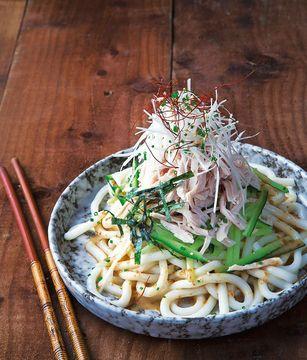 Takashi Miyazaki\'s turkey bang bang salad with udon noodles