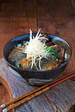 Takashi Miyazaki\'s herring with sansho pepper and kabayaki with Japanese rice