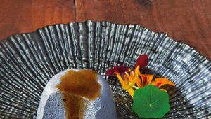 Takashi Miyazaki\'s tofu and black sesame pudding