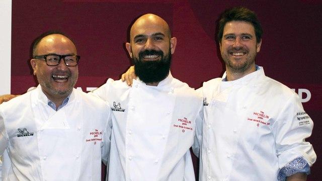 The three Cork stars: Takashi Miyazaki, Ahmet Dede and Rob Krawczyk