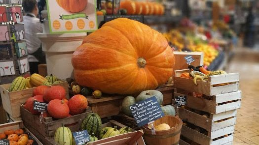 The pumpkin in the Fallon and Byrne store on Exchequer Street