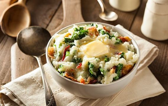 Delicious colcannon is the perfect recipe for a cold, Irish Halloween night.