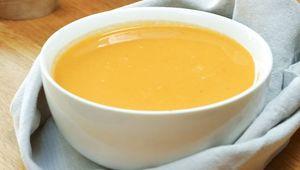 Butternut squash and garlic soup