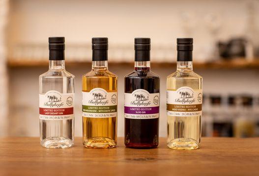 A selection of Ballykeefe\'s spirits