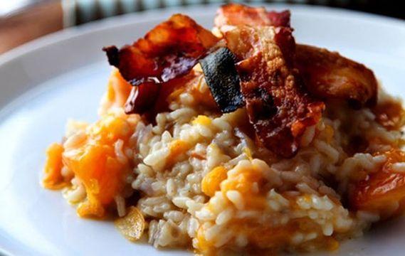 A delicious pumpkin risotto recipe for Thanksgiving.