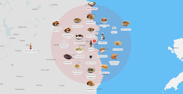 TasteAtlas Dublin map