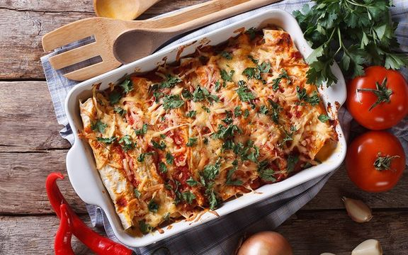 Turkey Enchiladas - a great way to use up all that leftover Thanksgiving turkey.