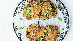 Sweet potato and courgette fritters, Neven Maguire's Complete Family Cookbook