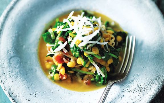 Goan spinach and lentils, 30 minute curries