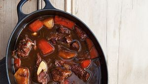 Traditional Irish beef and stout stew