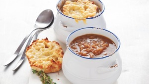 French Onion Soup with Gruyere Croutons