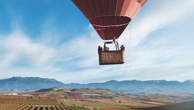 Balloon ride in Rioja