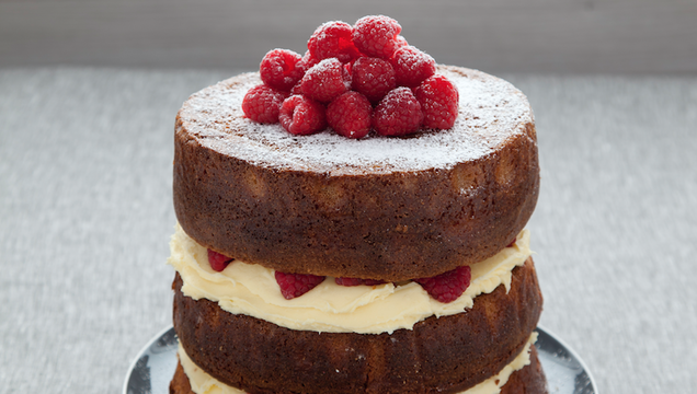 White Chocolate and Raspberry Naked Cake