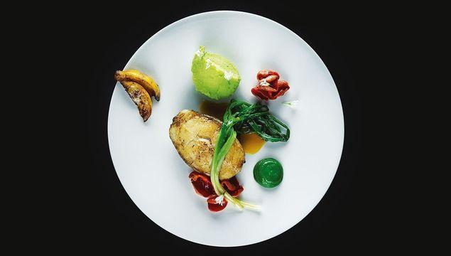 Cod, Three Cornered Leeks, Beefsteak Mushrooms