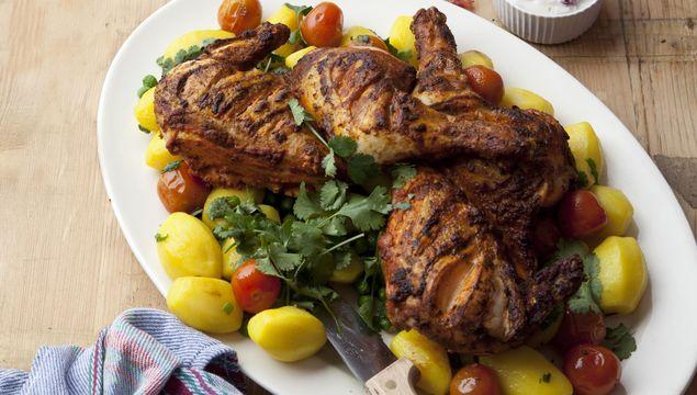 Tandoori Spatchcock Chicken