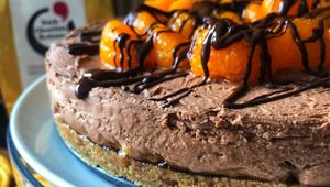 Thumb chocolate and zesty orange cheesecake