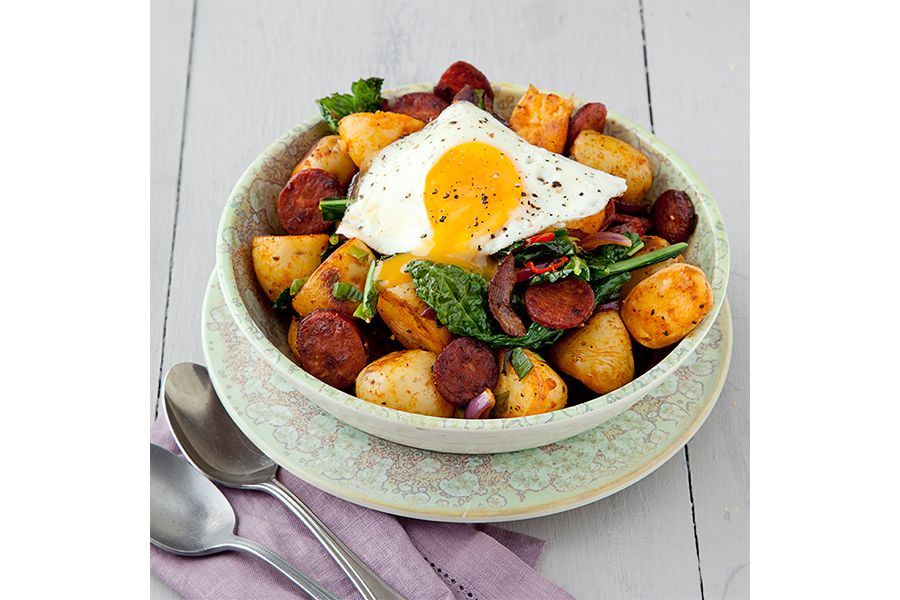 Egg and chorizo hash ethna reynolds main