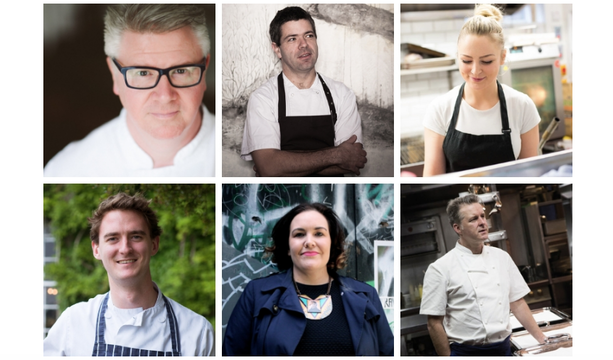 The six chefs taking part in Pot Duggans\' Sunday Sessions