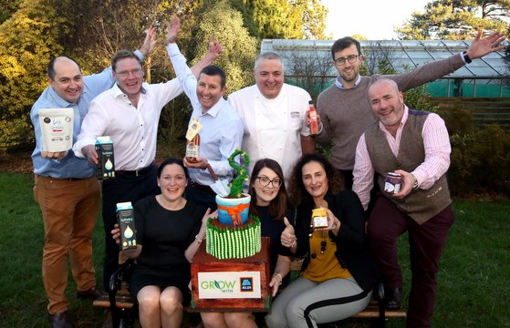 Richard Corrigan with the winners of last year\'s Grow with Aldi programme