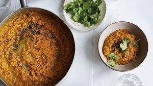 Donal Skehan\'s easy red lentil dahl.