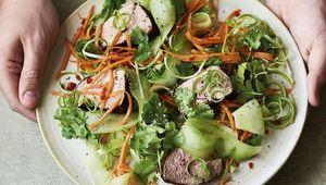Donal Skehan\'s charred pork banh mi salad.