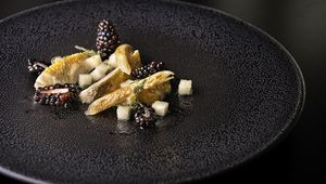 Thumb_pan_fried_breast_of_partridge__compressed_pear___sage__roasted_artichoke__blackberry_vinaigrette___3__la_fougere_edit_