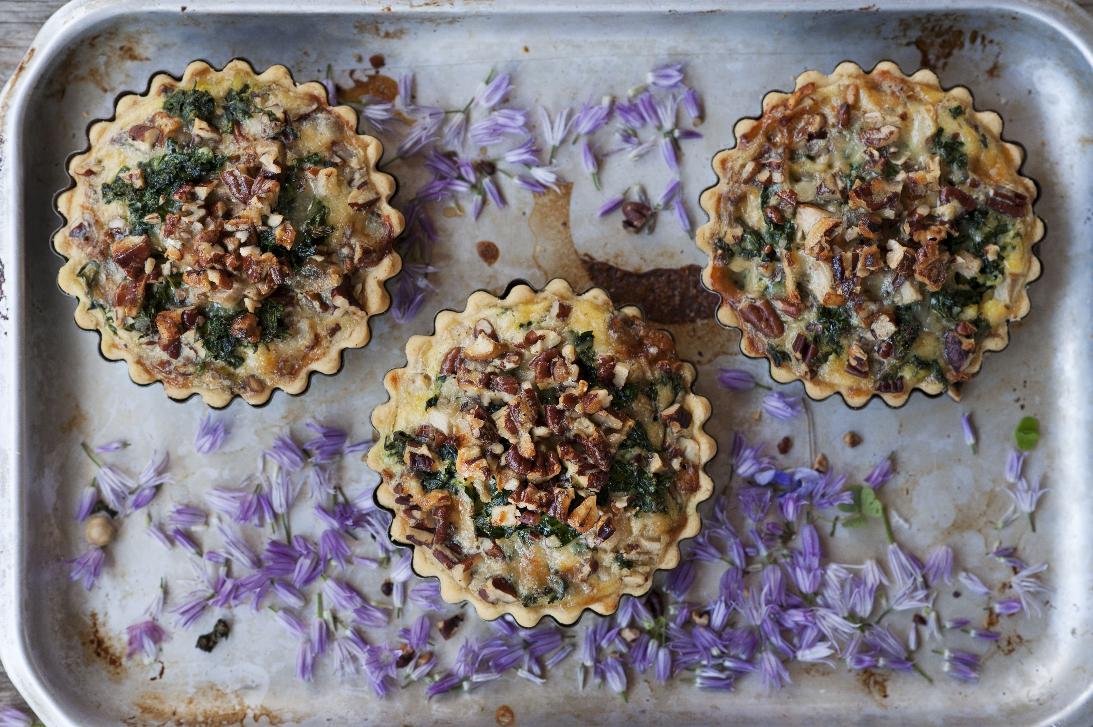 Blue cheese  kale and pecan tart 2