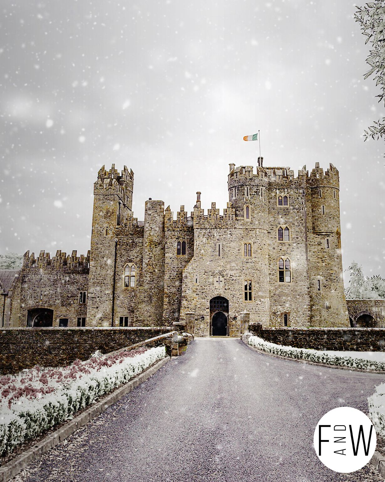 Kilkea_castle_snow_edit_with_logo