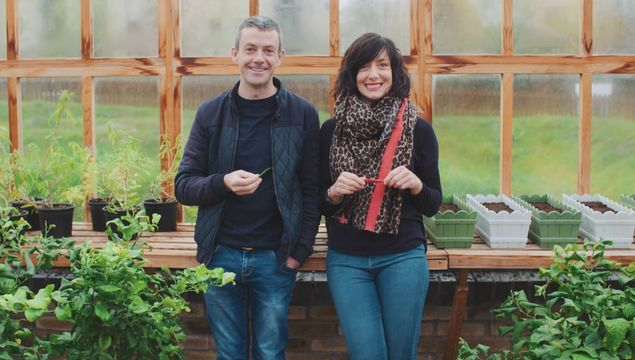 Grow Cook Eat presenters Michael Kelly and Karen O\'Donohoe
