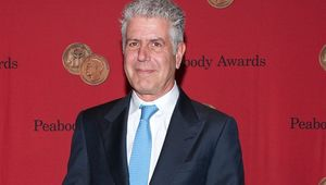 The late chef, TV presenter and writer Anthony Bourdain at the 2014 Peabody Awards.