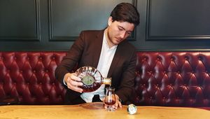 Rémy Martin\'s Global Brand Ambassador, Jack Charlton, pouring XO in Bar 1661, Dublin.