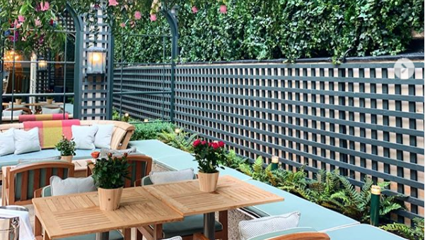 The newly opened Terrace at the Shelbourne