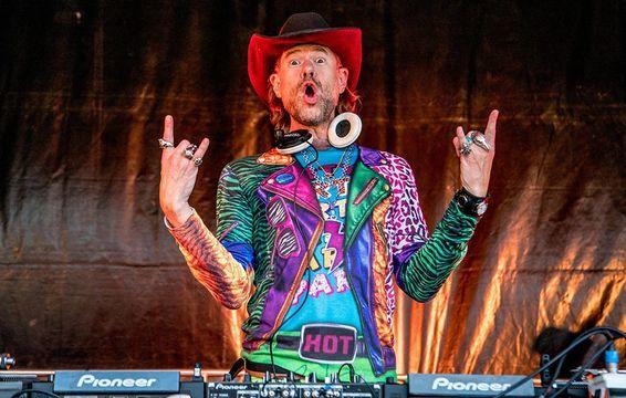 DJ BBQ on stage at The Big Grill.