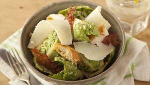 Thumb pigeon house caesar salad