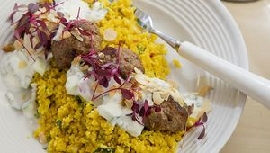 The Lovely Food Company\'s lamb koftas are so popular that the restaurant has to keep them on all the time.