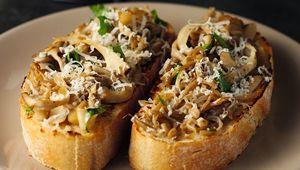 Thumb mushrooms on toast gettyimages 885484568 edit