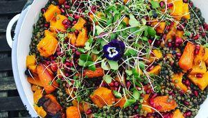 Thumb hfah puy lentil and roast pumpkin salad