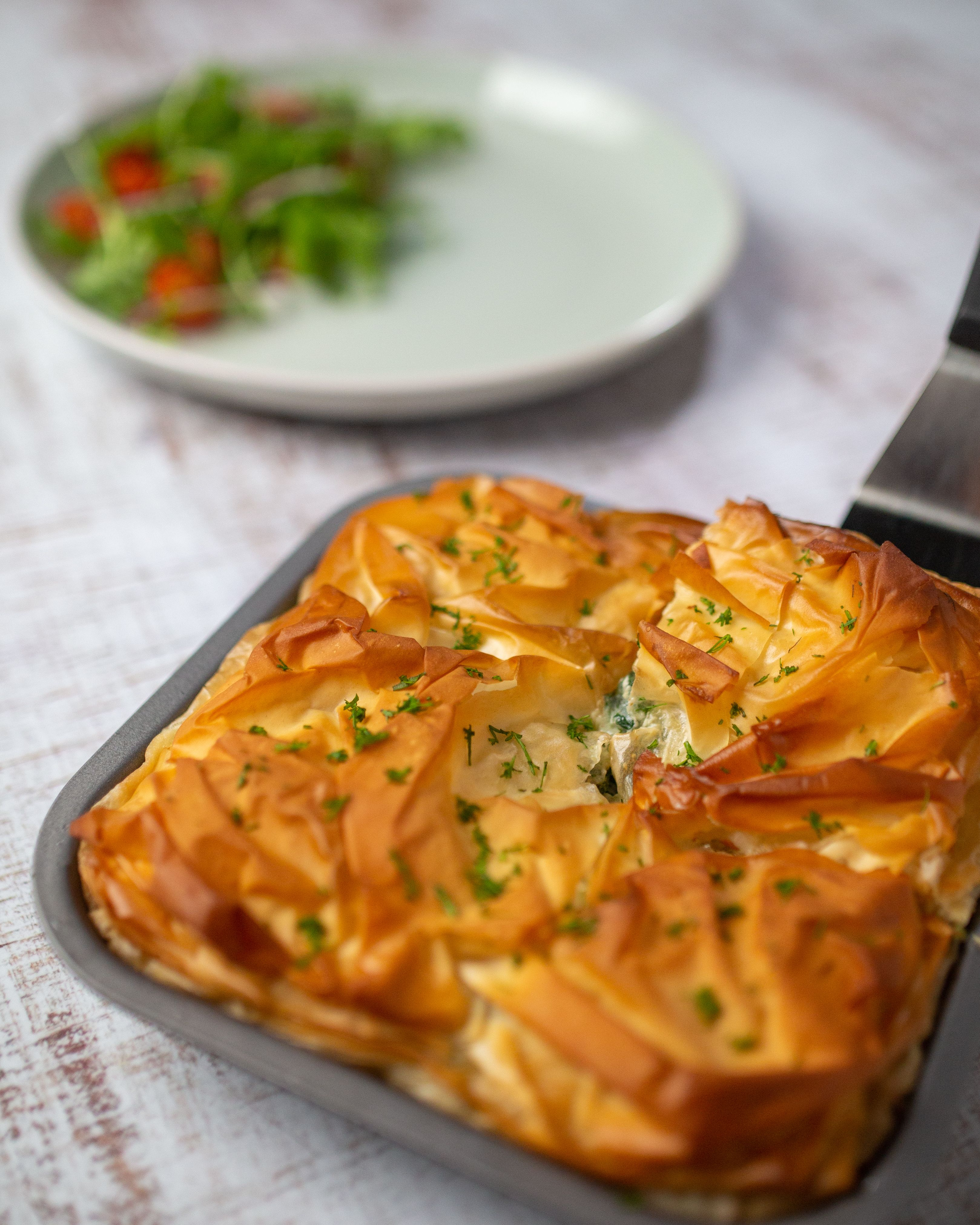 Greek Spinach And Ricotta Filo Pie Food And Wine