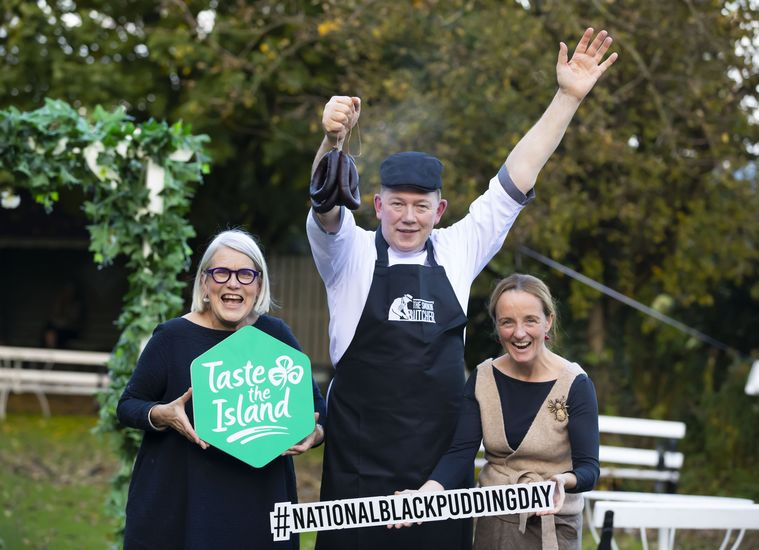 Featured darina allen  hugh maguire the smokin  butcher and olivia duff launch national black pudding day at samhain festival 2019