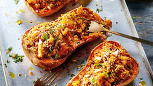Thumb stuffed baked butternut squash  1