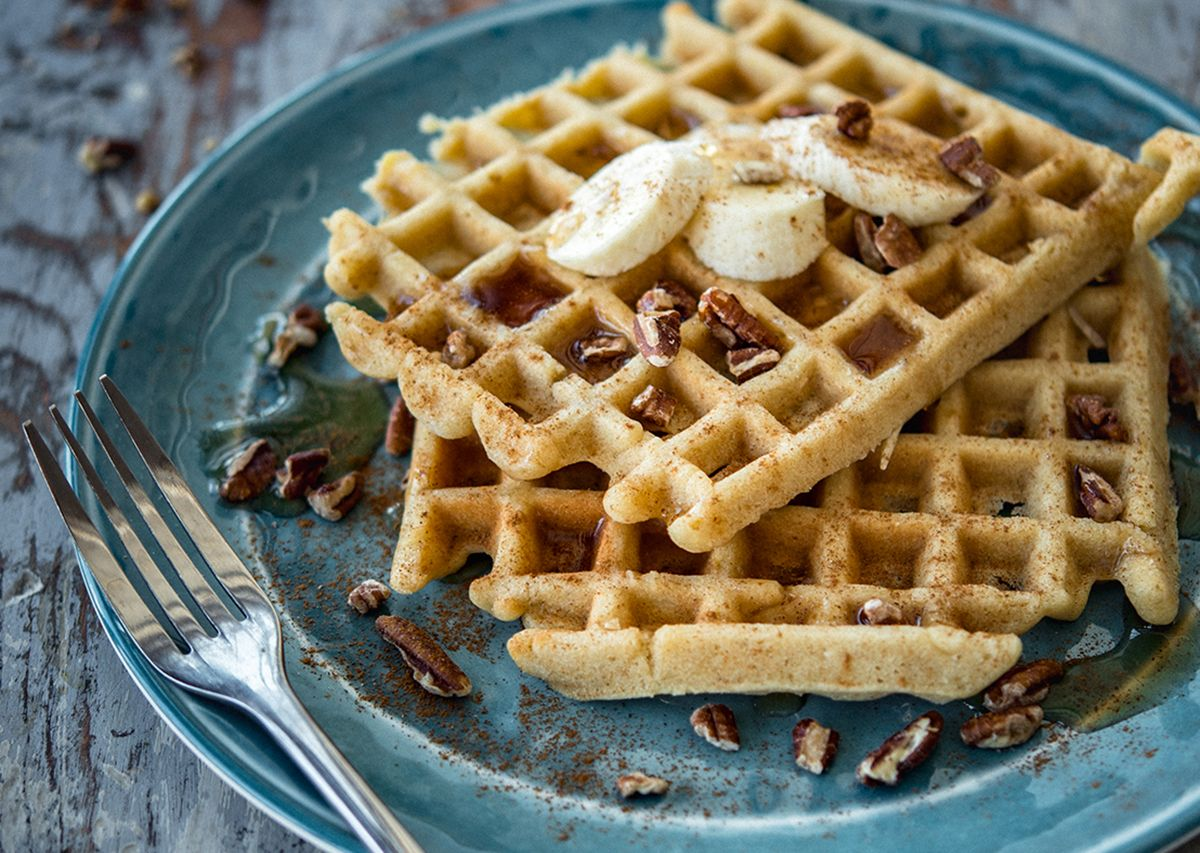 Banana bread waffles 1 hero