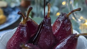 Thumb avoca  red wine poached pears